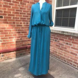 VINCE. Long Sleeve Button Front Shirt Maxi Dress
